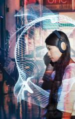 Noise cancelling wireless headphones.
