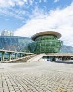 Hangzhou, China - November 6,2015: The famous Hangzhou Grand Theatre building scenery in Qianjiang New City.